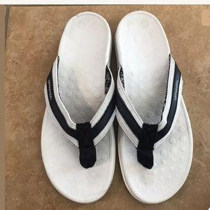 Orthaheel Blue White Flip Flop Sandals US 7 TIDE